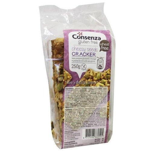 Consenza Crackers Kaas Pompoen 250 gram