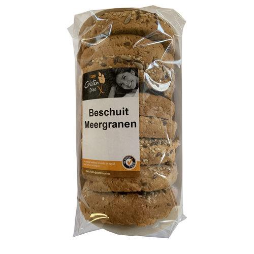 I am Glutenfree Beschuit Meergranen 120 gram