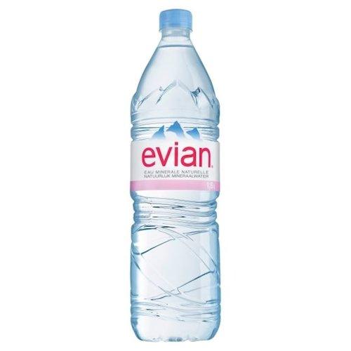 Evian Bronwater 1,5 liter
