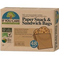 Sandwichzakjes Papier Gerecycled 48 stuks
