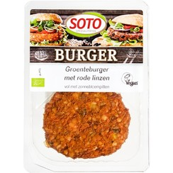 Groenteburger met Rode Linzen 2 x 80 gram