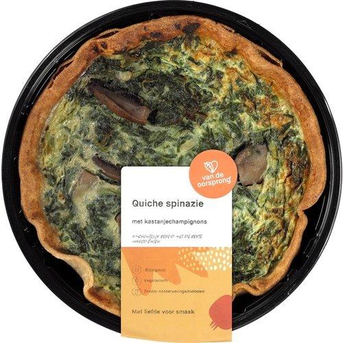 De Oorsprong Quiche Spinazie met Kastanjechampignons 350 gram