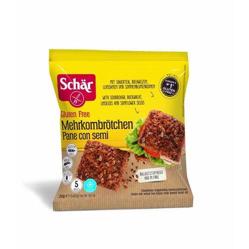 Schär Diepvries Meerkorenbroodjes 250 gram