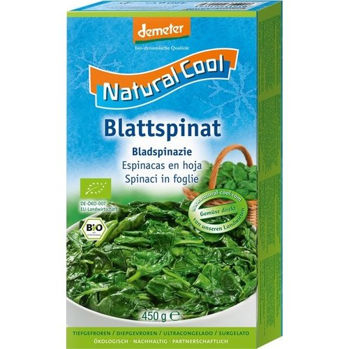 Natural Cool Diepvries Bladspinazie 450 gram