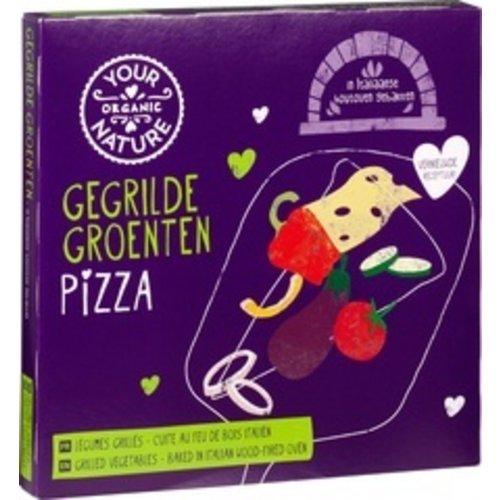 Your Organic Nature Diepvries Pizza Gegrilde Groenten 350 gram