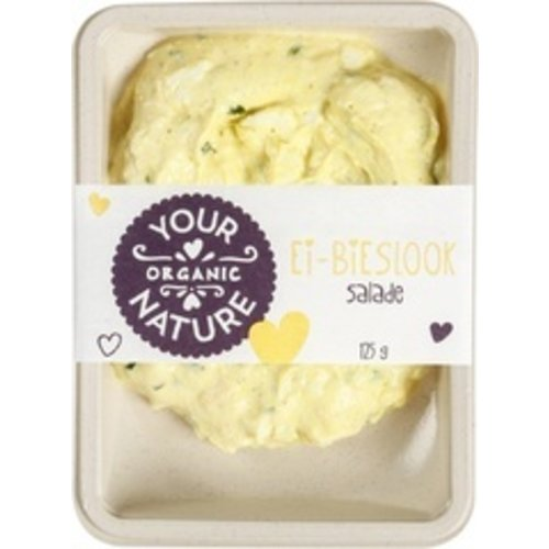 Your Organic Nature Ei-bieslooksalade 125 gram