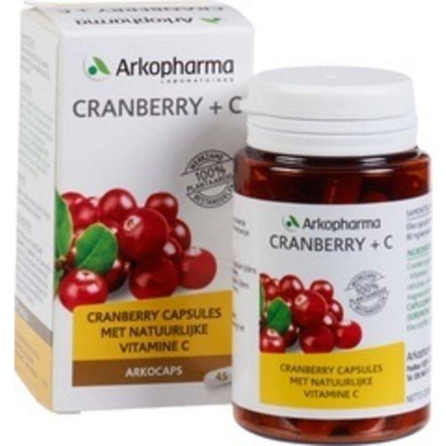 Arkopharma Cranberry + C Voedingssupplement 45 stuks