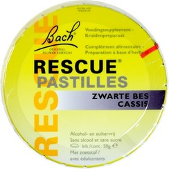 Rescue Pastilles Zwarte Bes 50 gram