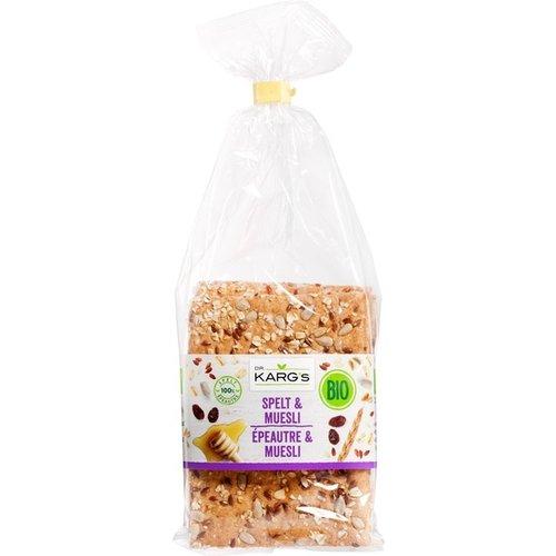 Dr. Karg's Crackers Spelt & Muesli 200 gram
