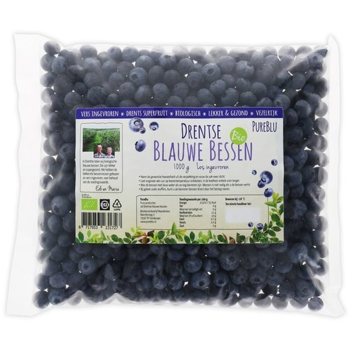 PureBlu Drentse Blauwe Bessen 1 kilo