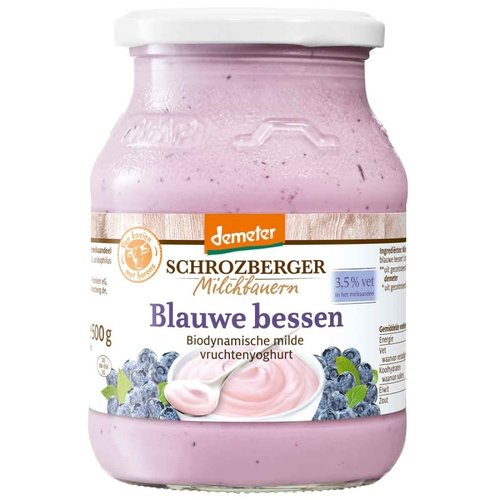 Schrozberger Yoghurt Blauwe Bessen 500 gram