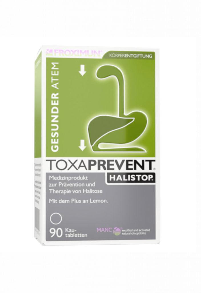 FROXIMUN Toxaprevent Halistop | Zeoliet kauwtabletten (180 tabs)