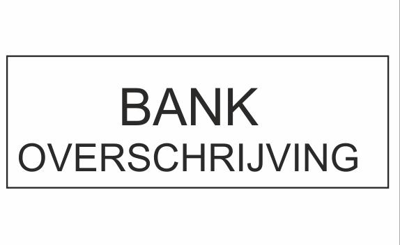 Per bankoverschrijven betalen