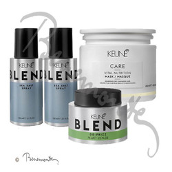Keune CARE Vital Nutrition Mask, Blend De Frizz en Blend Sea Salt spray combi-pack