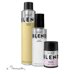 Keune Blend Salt mousse en Blend Fixing Spray en Blend Powder Volume
