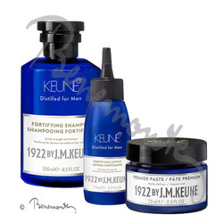 1922 by J.M. Keune Fortifying shampoo, lotion en Premier Paste
