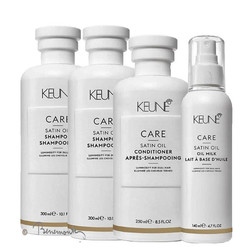 Keune CARE Satin Oil shampoo, conditioner en oil milk