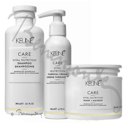 Keune CARE Vital Nutrition shampoo, Thermal cream en Mask