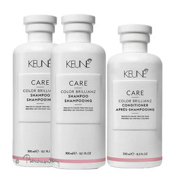Keune CARE Color Brillianz shampoo 2x en conditioner 1x