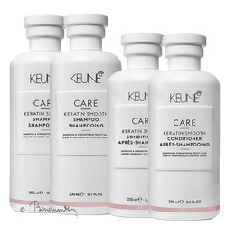 Keune Keratin Smooth shampoo en Keune Keratin Smooth conditioner