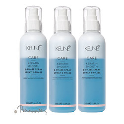 Keune CARE Keratin Smooth 2-Phase spray 3x200ml