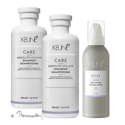 Keune CARE Absolute volume shampoo 2x300ml en Keune STYLE Soft Mousse mousse1x200ml
