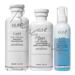 Keune CARE Curl Control Shampoo, Conditioner en 2-Phase Spray