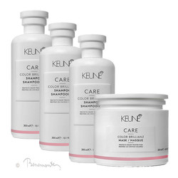 Keune CARE Color Brillianz shampoo 3x300ml en Color Brillianz Mask 1x200ml