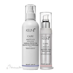 Keune CARE Absolute Volume Thermal Protector en Keratin Smooth serum