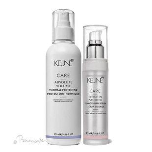 Keune CARE Absolute Volume Thermal Protector en Keratin Smooth serum