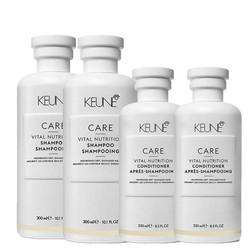 Keune CARE Vital Nutrition 2x shampoo en 2x condition