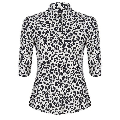 Jane Lushka Jane Lushka blouse Animal Ecru