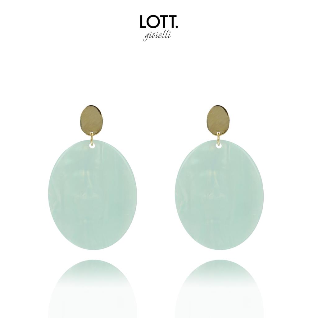 LOTT. Gioielli LOTT. Exclusive Collection oorbellen Resin Closed Oval M Ocean Blue