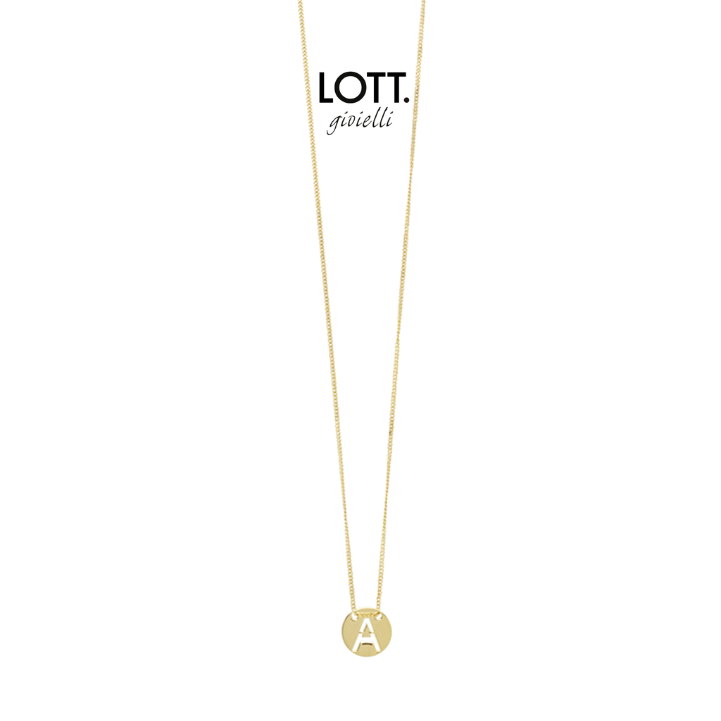 LOTT. Gioielli LOTT. Initial Collection ketting Small Gold Plated