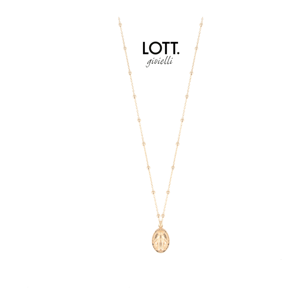 LOTT. Gioielli LOTT. Classic Collection ketting 901 Rosary Mary Rosé Gold