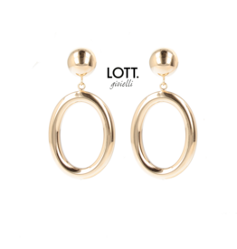 LOTT. Gioielli LOTT. Classic Collection oorbellen Hoop Oval Small Rosé Gold