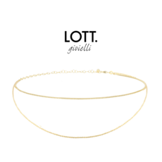 LOTT. Gioielli LOTT. Classic Collection ketting Choker Double Gold Plated