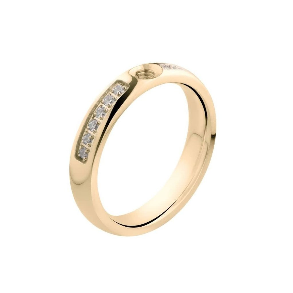 Melano Melano Twisted ring Tracy CZ Gold Plated