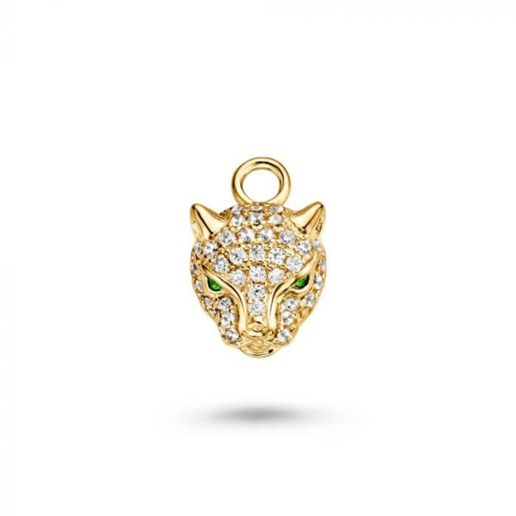 Mi Moneda Mi Moneda Monogram charm Leopard Gold Plated