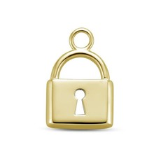 Mi Moneda Mi Moneda Monogram charm Lock Gold Plated