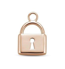 Mi Moneda Mi Moneda Monogram charm Lock Rosé Gold Plated