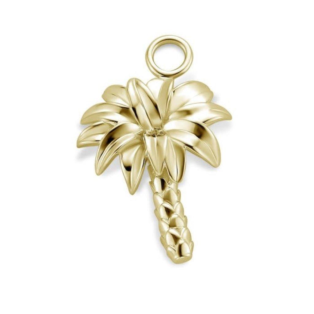 Mi Moneda Mi Moneda Monogram charm Palm Tree Gold Plated