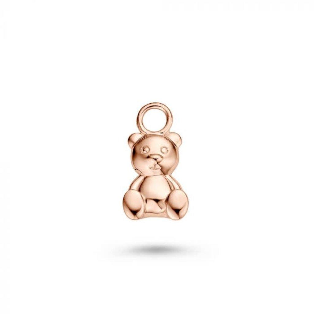 Mi Moneda Mi Moneda Monogram charm Bear Rosé Gold Plated