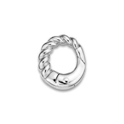 Mi Moneda Mi Moneda Monogram clip Oval Cord Silver