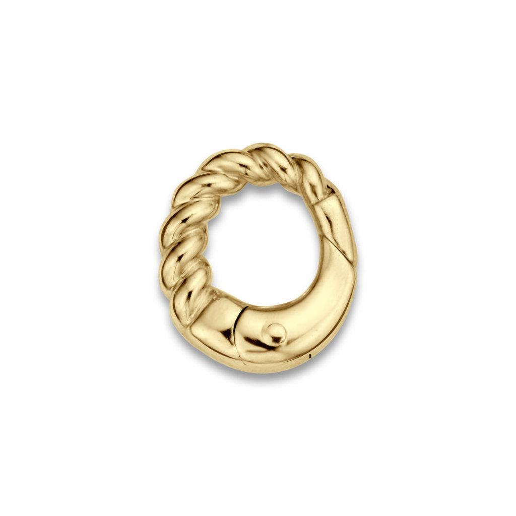 Mi Moneda Mi Moneda Monogram clip Oval Cord Gold Plated