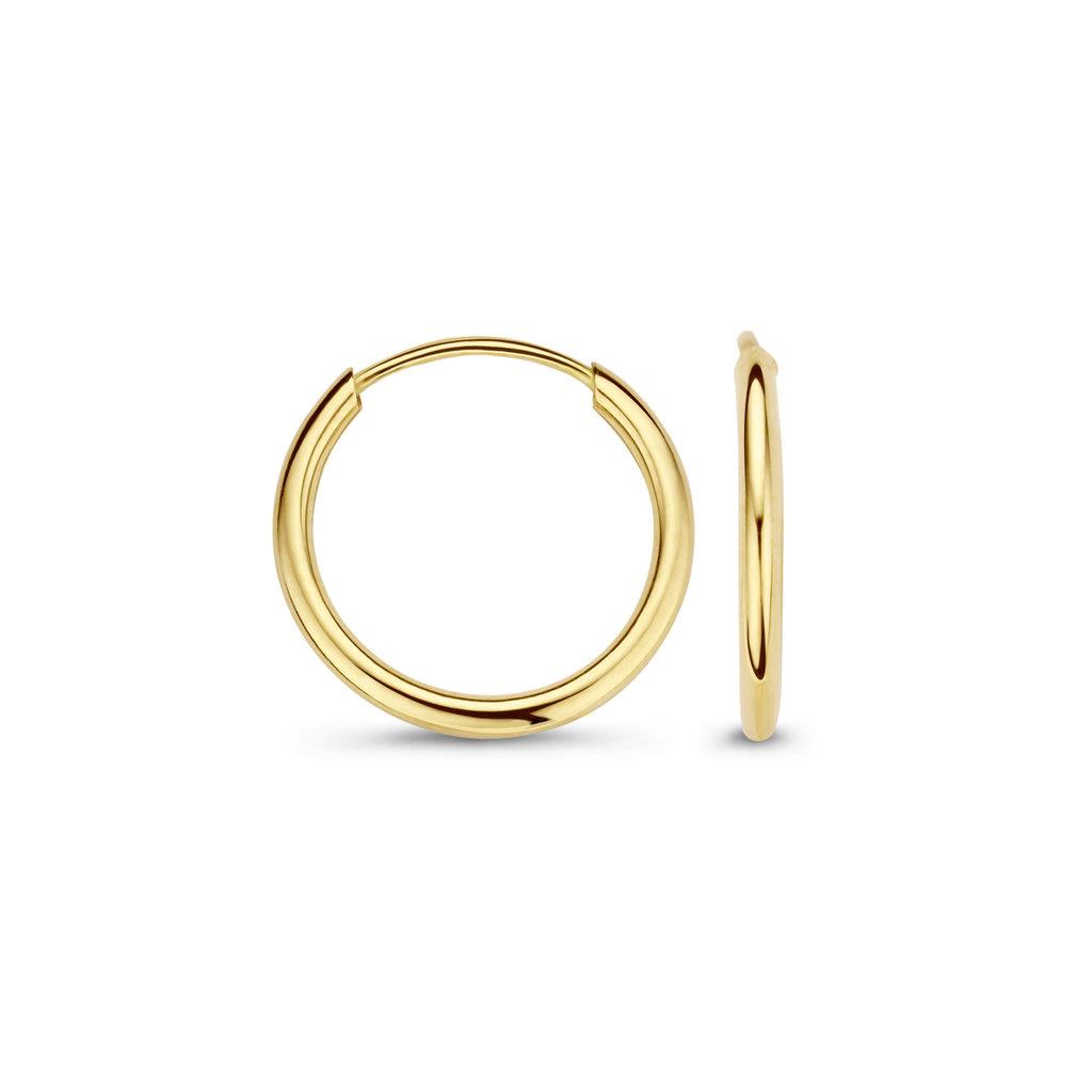 Mi Moneda Mi Moneda Monogram oorbellen Nola Gold Plated