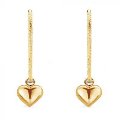 Mi Moneda Mi Moneda Monogram oorbellen Jade Love Gold Plated