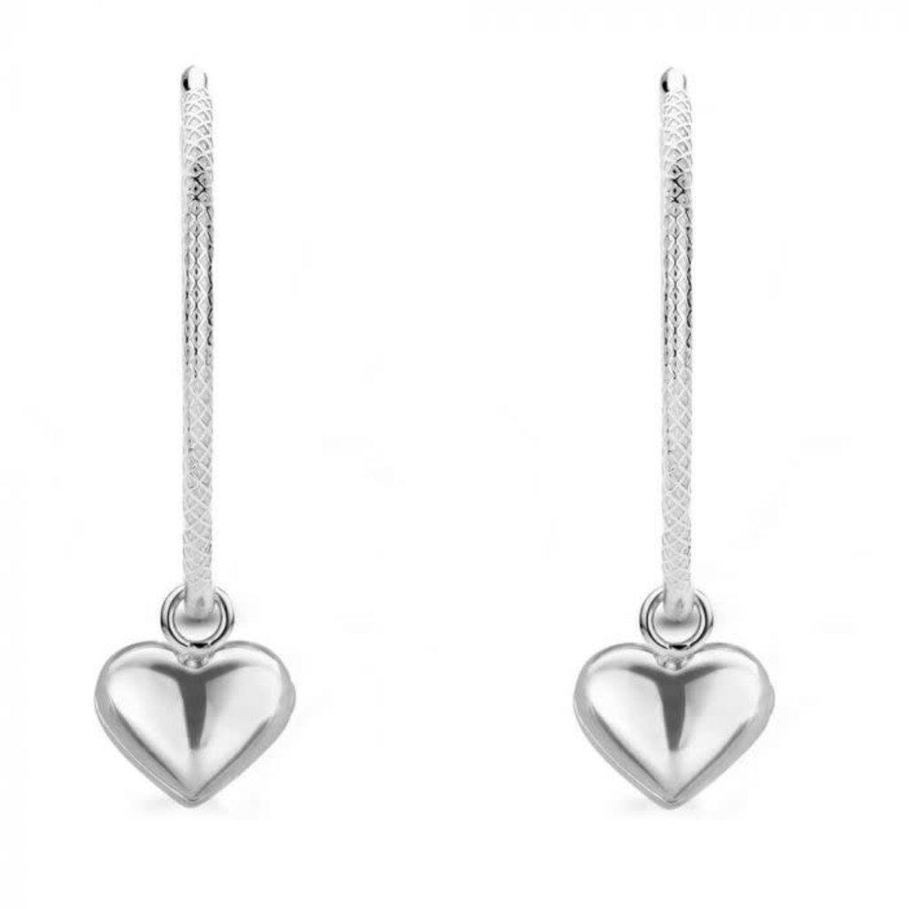 Mi Moneda Mi Moneda Monogram oorbellen Jade Love Silver