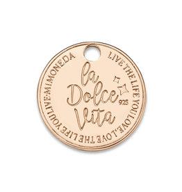 Mi Moneda Mi Moneda Monogram tag Dolce Vita Deluxe Round 15 mm Rose Gold Plated