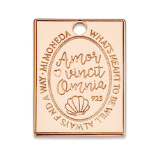 Mi Moneda Mi Moneda Monogram tag Avo Rectangle 20 mm Rosé Gold Plated